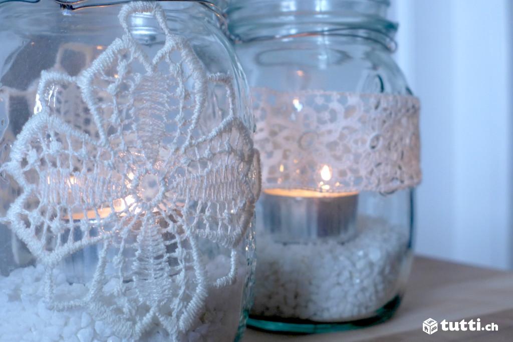 Diy einmachgl ser laternen - Glaser dekorieren mit sand ...