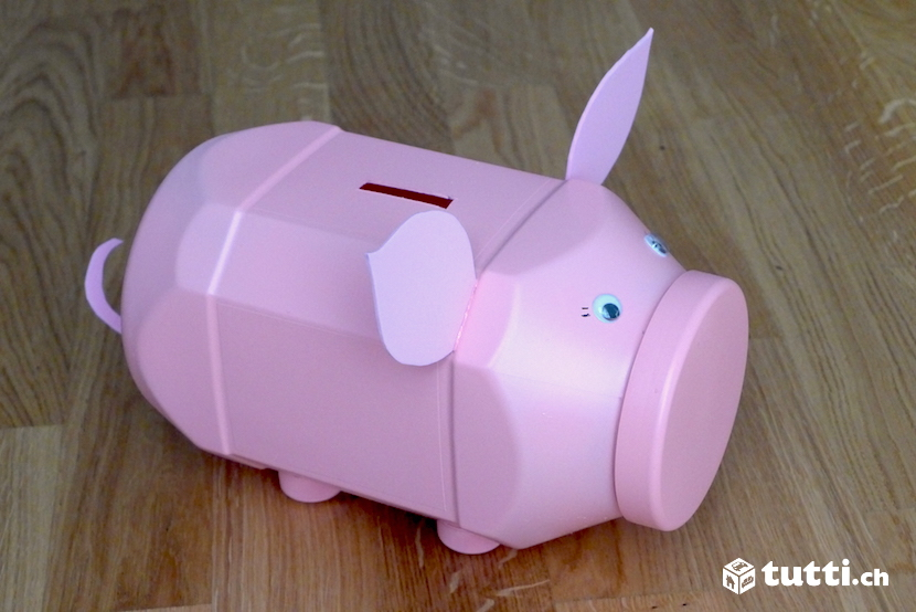 diy pet flaschen sparschwein. Black Bedroom Furniture Sets. Home Design Ideas