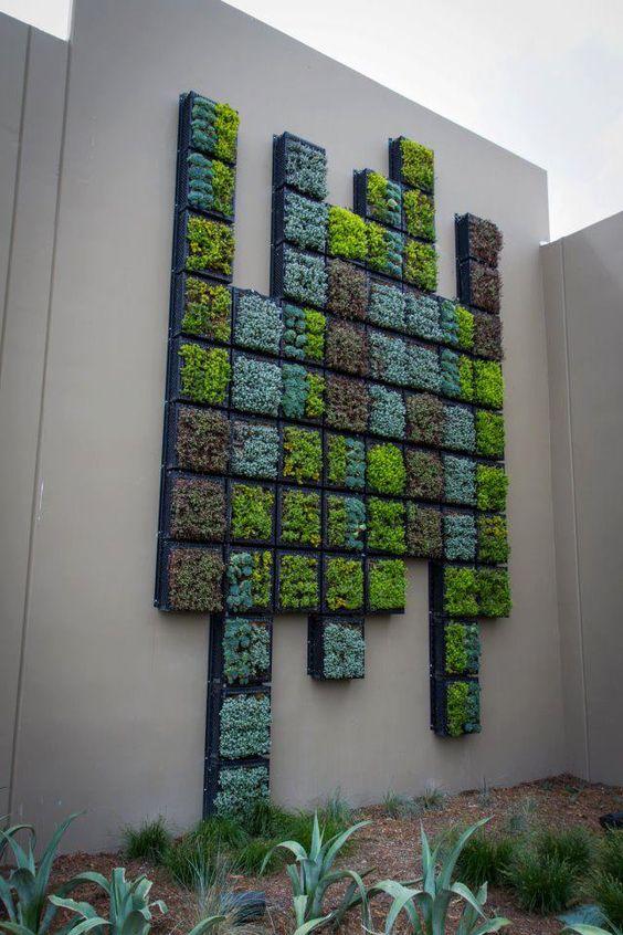 Sukkulenten, Wandbild, Vertical Garden, Gartengestaltung