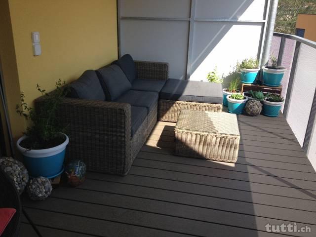 balkone der kleine garten direkt an der wohnung. Black Bedroom Furniture Sets. Home Design Ideas
