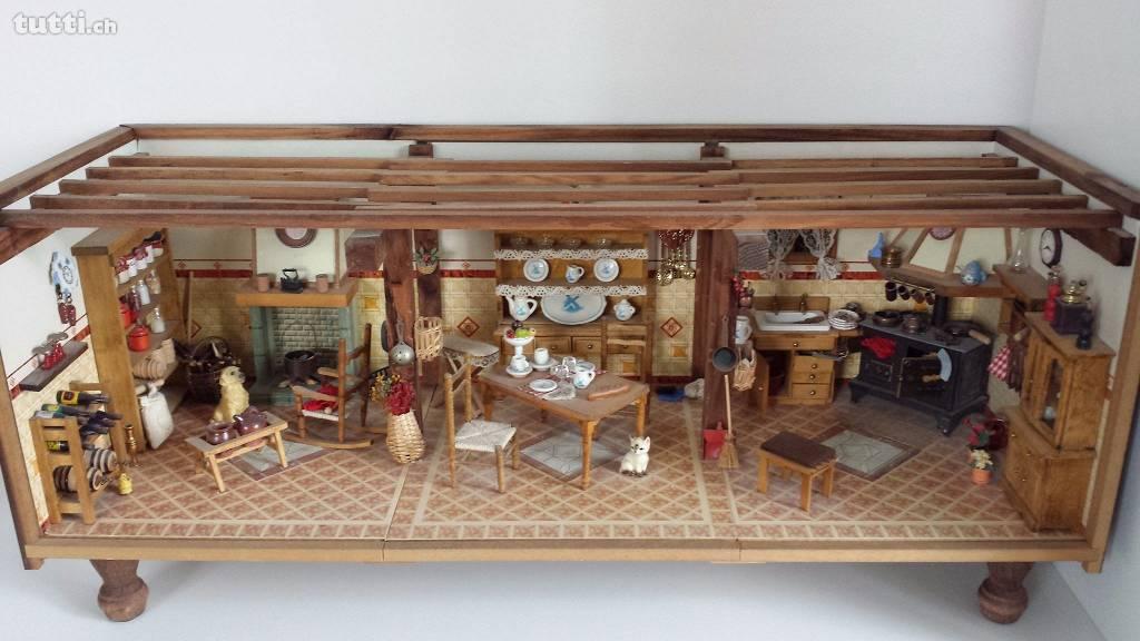 Mini Küche, Miniatur Küche, Puppenhaus, Puppenstube
