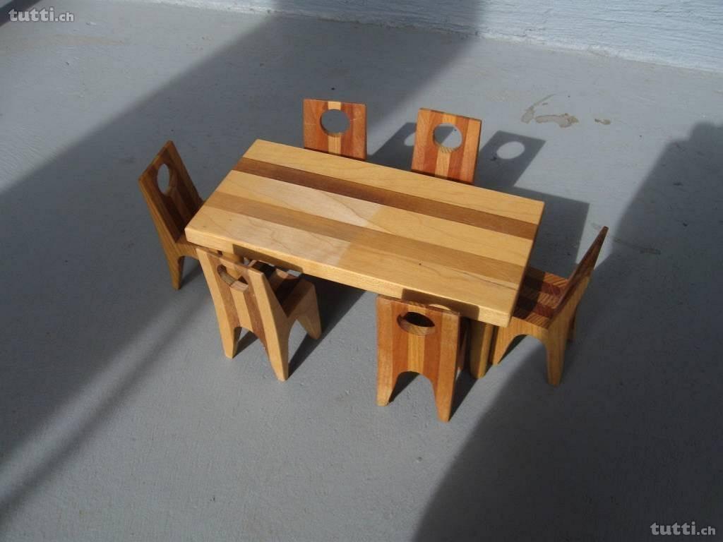 Tischgarnitur, Tisch Puppenhaus, Tisch für Puppentisch